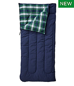 Kids' L.L.Bean Flannel Lined Camp Sleeping Bag, 40°